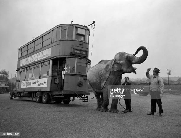 The very last tramcar to the 'Elephant and Castle' and it's Comet propelled London discarded its trams a couple of months ago and this vehicle was...