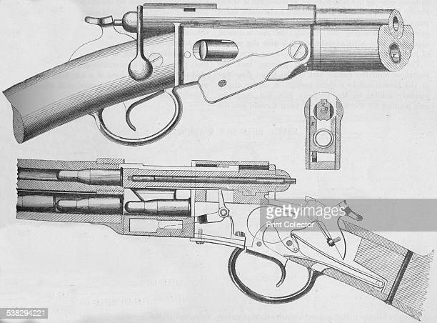 The Vetterli Magazine Rifle' From The Illustrated Naval and Military Magazine Volume I [The Illustrated London News London 1884] Artist Unknown