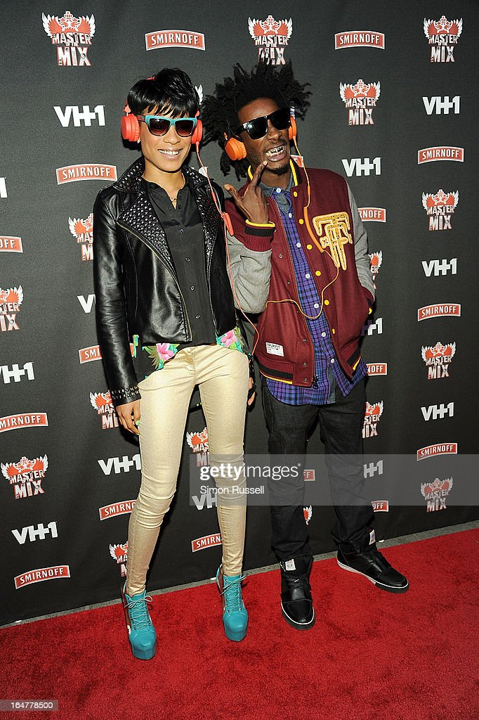 The VH1 Black Ink Crew Sassy Bermudez and Puma Robinson attend the 'Masters Of The Mix' Season 3 Premiere at Marquee on March 27, 2013 in New York City.