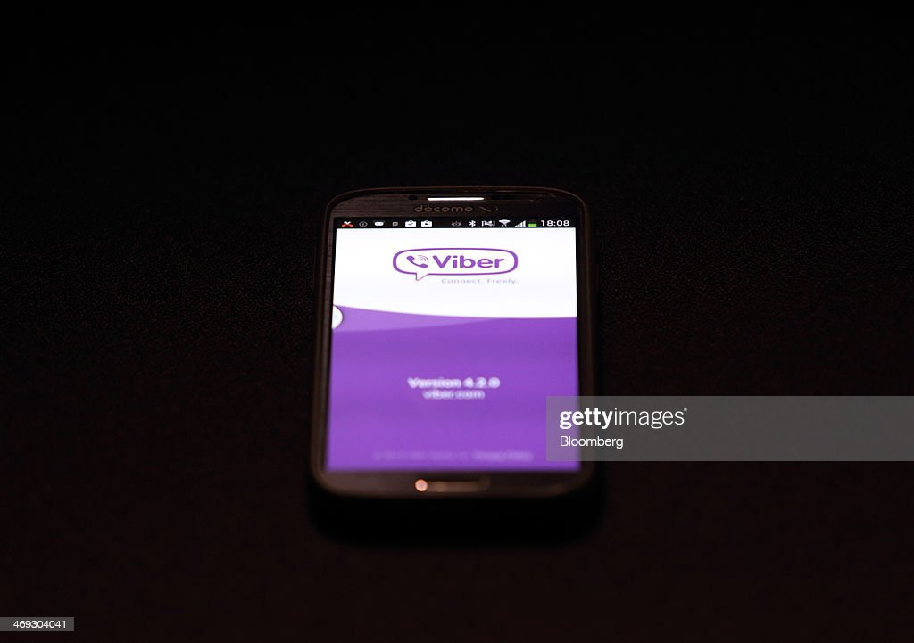 The Viber Internet messaging and calling service application is displayed on a smartphone in this arranged photograph taken in Tokyo, Japan, on Friday, Feb. 14, 2014. Rakuten Inc., the Japanese online retailer controlled by billionaire Hiroshi Mikitani, is buying the Viber Internet messaging and calling service for $900 million as it moves into social networking. Photographer: Tomohiro Ohsumi/Bloomberg via Getty Images