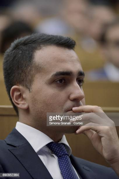 The Vice President of the Chamber of Deputies Luigi Di Maio partecipates at the Conference of the Five Star Movement on Justice Issues and Visions of...