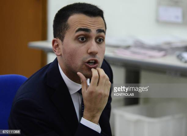The Vice President of the Chamber of Deputies Luigi Di Maio the Movement 5 Stars in Italy