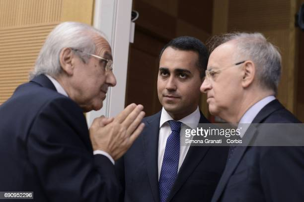 The Vice President of the Chamber of Deputies Luigi Di MaioGioacchino Natoli and Piercamillo Davigo partecipate at the Conference of the Five Star...