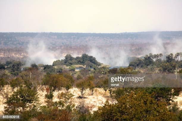 The Victoria Falls mist