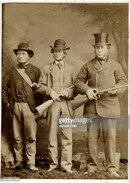 The Victorian Hunting Party Men with Guns