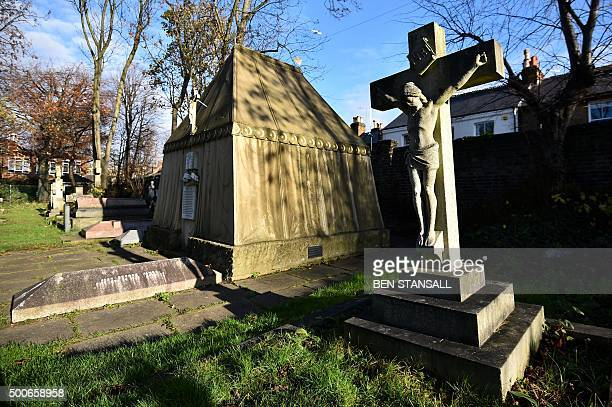 The Victorian mausoleum of British adventurer and historian Richard Francis Burton taking the form of a Bedouin tent is seen at the cemetery outside...
