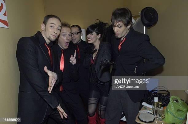The Victories Of Music 2006 Les coulisses des 21èmes Victoires de la Musique au Zénith de Paris le groupe SUPERBUS et sa chanteuse Jennifer AYACHE...