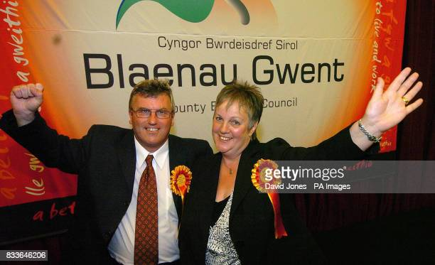 Independents Dai Davies who won the Parliamentary seat and Trish Law who was elected to the Welsh Assembly in the combined Parliamentary and Welsh...