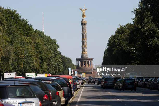 The Victory column at the street of the 17th of June in Berlin
