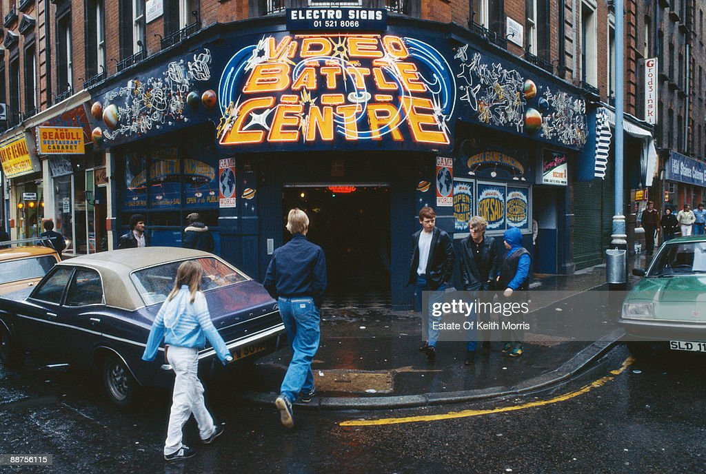 The Video Battle Centre a video arcade on the corner of Rupert Street and Brewer Street in London's Soho circa 1979