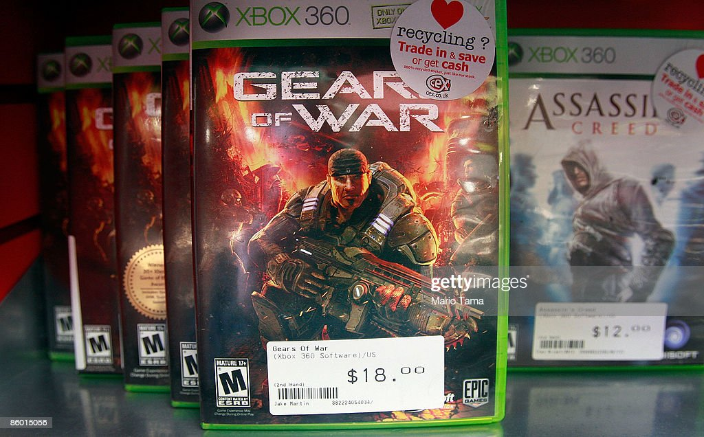 The video game Gears of War is seen for sale in a CeX store April 17, 2009 in New York City. Video game sales in the U.S. fell more than expected last month and were generally flat in the first quarter when compared with 2008 due in part to the recession and fewer big game launches. The CeX store reported average sales for the month which they attribute to demand for used game sales.