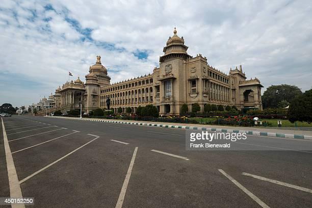 The Vidhana Soudha is the seat of the state legislature of Karnataka