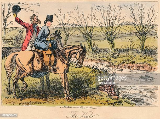 'The View' 1865 From Mr Facey Romford's Hounds written by Robert Smith Surtees illustrated by John Leech and HK Phiz Browne [Bradbury Evans Co London...