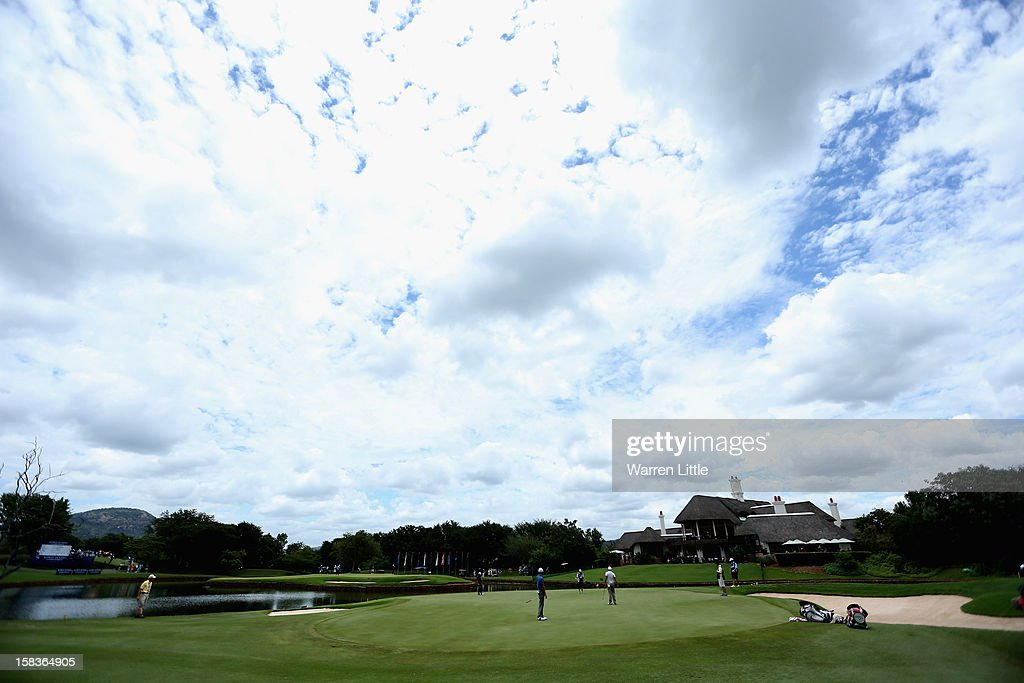The view across the ninth green during the second round of the Alfred Dunhill Championship at Leopard Creek Country Golf Club on December 14, 2012 in Malelane, South Africa.