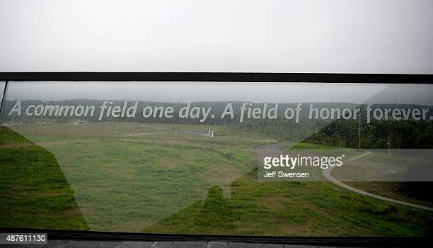 The view at the visitor center at the Flight 93 National Memorial on September 10 2015 in Shanksville Pennsylvania The newly opened $26 million...