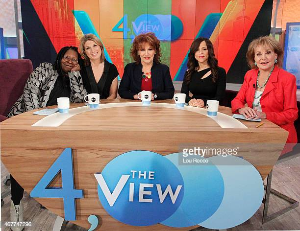 THE VIEW 'The View' celebrates 4000 shows with guest cohosts Barbara Walters and Joy Behar Guests include Elisabeth Moss and Mario Cantone airing...
