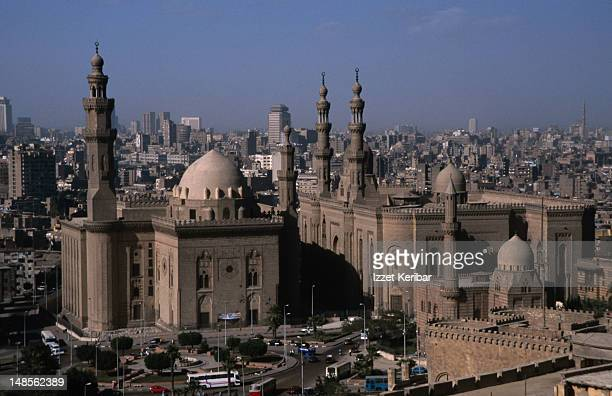 The view from the citadel of the Great Mosques of Cairo.