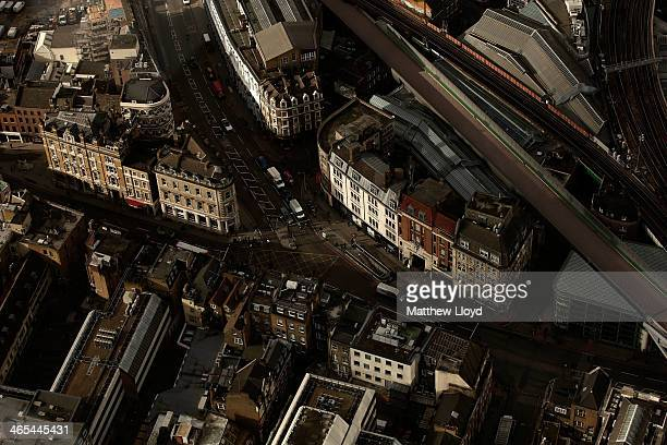 The View from The Shard looking down on Borough High Street on January 27 2014 in London England A study has found that one in three 2230 year olds...