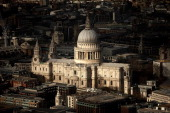The View from The Shard looking down on St Paul's Cathedral on January 27 2014 in London England A study has found that one in three 2230 year olds...