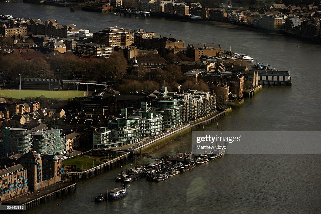 The view from The Shard looking East over Wapping High Street on January 27, 2014 in London, England. A study has found that one in three 22-30 year olds are leaving their hometowns to move to the capital, which creates ten times as many private sector jobs as any other city.