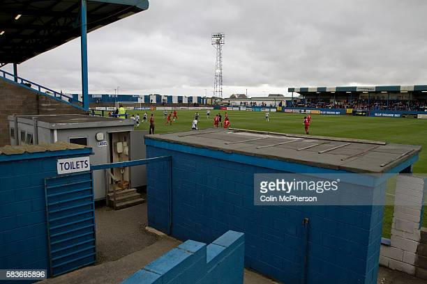 The view from the terracing at Barrow AFC's Furness Building Society Stadium during the Barrow v Newport County Conference National Fixture Newport...