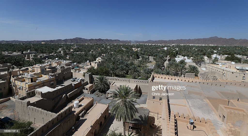 The view from the top of Nizwa Fort as Prince Charles Prince of Wales and Camilla Duchess of Cornwall visit on the eighth day of a tour of the Middle...