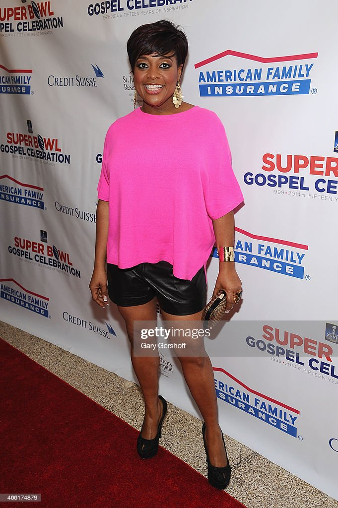 'The View' Host <a gi-track='captionPersonalityLinkClicked' href=/galleries/search?phrase=Sherri+Shepherd&family=editorial&specificpeople=693379 ng-click='$event.stopPropagation()'>Sherri Shepherd</a> attends the Super Bowl Gospel Celebration 2014 on January 31, 2014 in New York City.