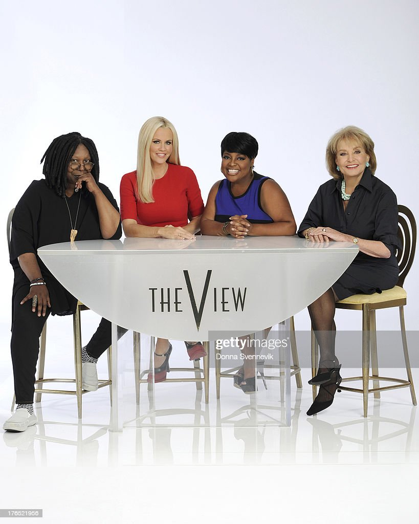 THE VIEW - 'The View' kicks off Season 17 with new host Jenny McCarthy, Monday, September 9, 2013. McCarthy joins current moderator Whoopi Goldberg, Sherri Shepherd and executive producer/creator and host Barbara Walters at their signature table. 'The View,' a live, one-hour daily talk show airs weekdays on ABC (11:00 a.m.-12:00 noon, ET). WALTERS