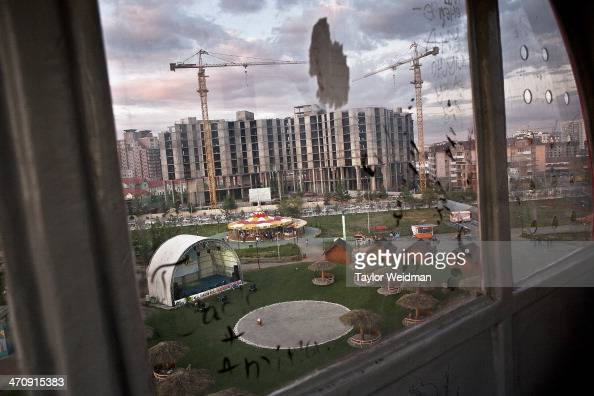 The view of a construction site in Ulaanbaatar from the ferris wheel of the city's Children's Park Alongside private enterprises the Mongolian...
