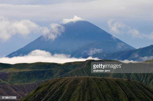 The view of majestic Mount Semeru at East Java, Indonesia during early morning.