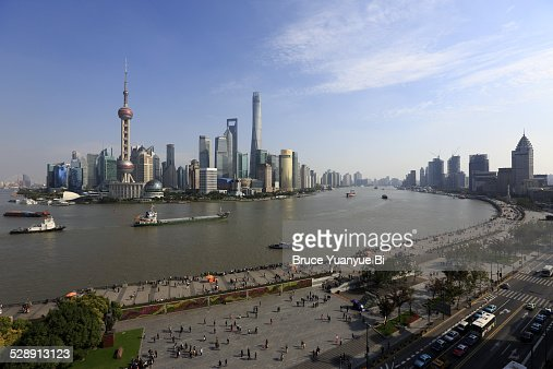 The view of Pudong Lujiazui district