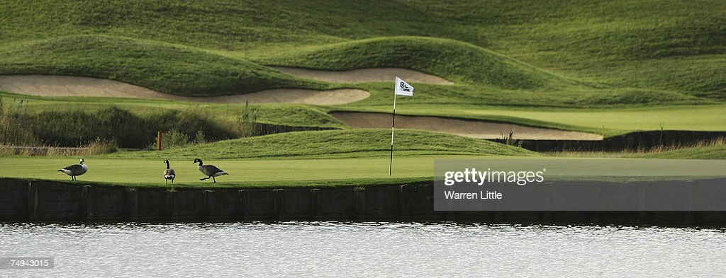 The view of the 16th green during the first round of The Open de France ALSTOM at the Golf National Golf Club on June 28 2007 in Versailles France