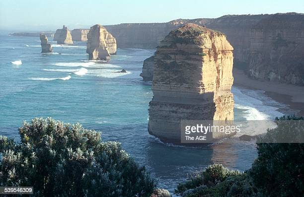 The view of the Twelve Apostles looking west 6th August 1998 THE AGE NEWS Picture by HEATH MISSEN