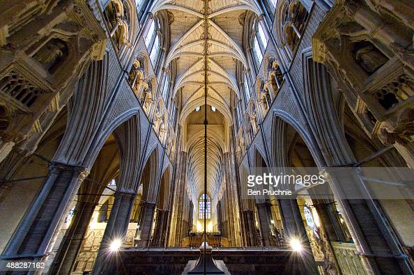 The view of Westminster Abbey from Henry V's secret chapel at Westminster Abbey on September 15 2015 in London England To mark the 600th anniversary...
