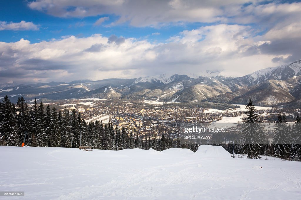 the view of zakopane in winter from gubalowka stock photo. Black Bedroom Furniture Sets. Home Design Ideas