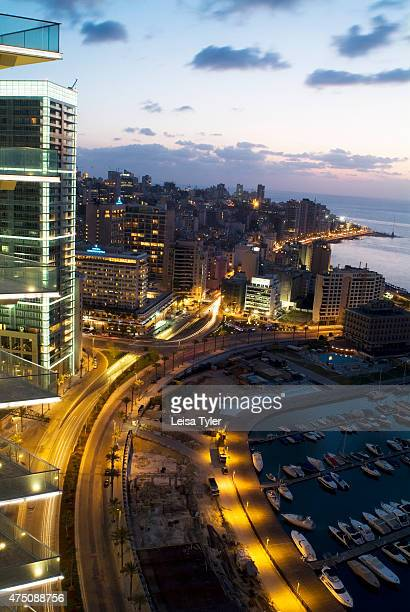 The view over the Marine and Corniche from the rooftop of the Four Seasons Hotel in Beirut After 30 years embroiled in embittered ethnic and...