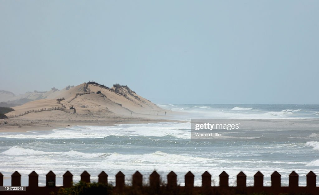 The view over the palace wall to the beach during the ProAm of the Trophee du Hassan II Golf at Golf du Palais Royal on March 27 2013 in Agadir...