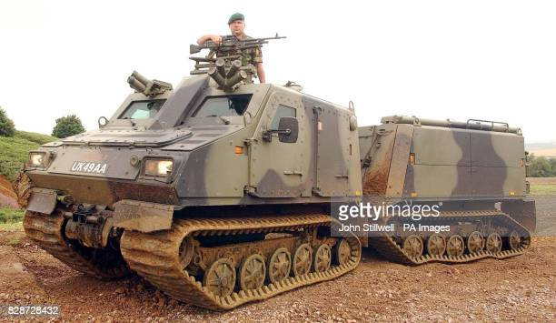 The Viking armoured all terrain vehicle at the Defence Vehicle Dynamics 2003 one of Europe's largest specialist vehicle shows held at Milbrook...