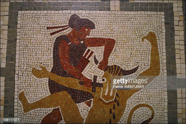 The Villa Kerylos An Hymn To Ancient Greece On March 1 2004 In BeaulieuSurMer France Mosaic Depicting Theseus Fight Against The Minotaure In The...