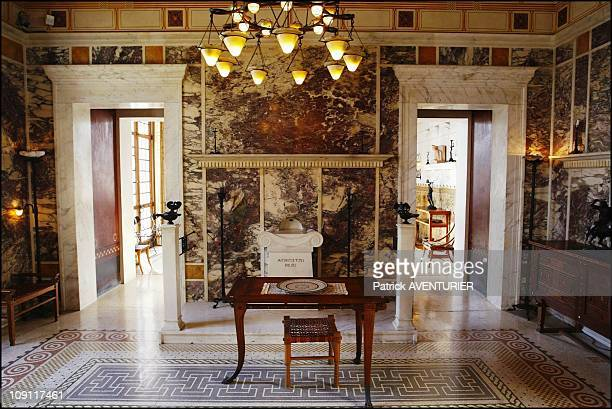 The Villa Kerylos An Hymn To Ancient Greece On March 1 2004 In BeaulieuSurMer France The Large Andron´ Lounge