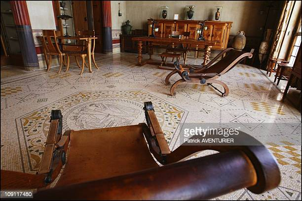 The Villa Kerylos An Hymn To Ancient Greece On March 1 2004 In BeaulieuSurMer France The Chaises Longues Replicas Of GrecoRoman Originals In The...