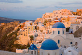 The village at sunrise, Oia, Santorini, Greece