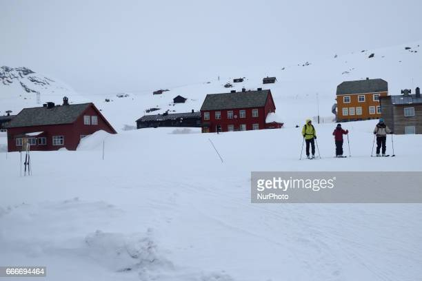 The village Finse along the OsloBergen train route on March 04 2017 The village sits at an elevation of 1222 metres above sea level making it the...