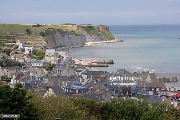 The village of Arromanches in the Normandy on August 05 2013 in Arromanches France