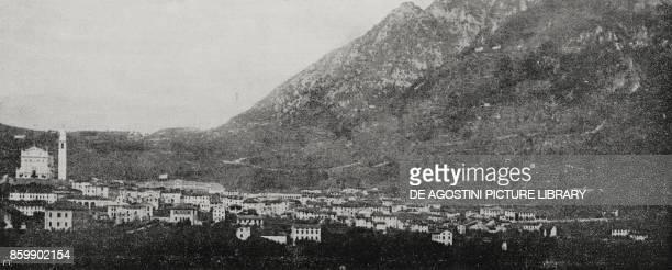 The village of Arsiero June 26 Italy World War I from L'Illustrazione Italiana Year XLIII No 27 July 2 1916