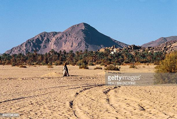 The village of Azelouaz Djanet Oasis Sahara Desert Algeria