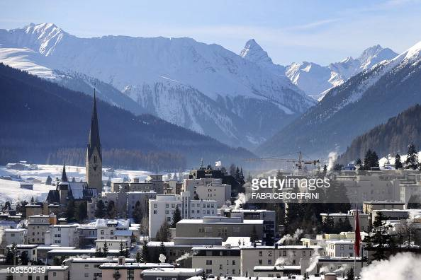 The village of Davos is seen prior to the opening of the World Economic Forum on January 23 2011 The Swiss resort of Davos hosts the WEF from January...