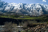 The village of Kazbegi or Stepantsminda in the Georgian Caucasus Mountains The last scattering of houses before Russia Kazbegi is a true frontier...
