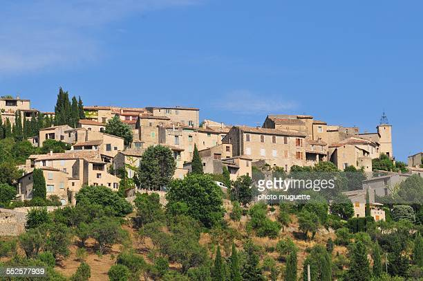 The village of Lurs in Luberon