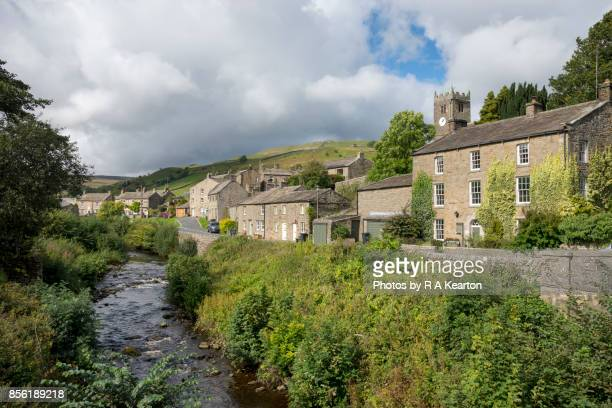 The village of Muker beside the river Swale, Yorkshire Dales, England